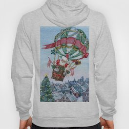 Santa's on his way Hoody