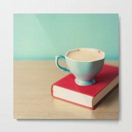 Coffee Reading Metal Print