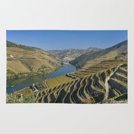 Vineyards in the Douro Valley, Portugal Rug