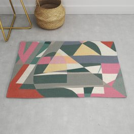 Sailing in Light Rain Rug
