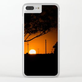 Pampas Sunset. Clear iPhone Case