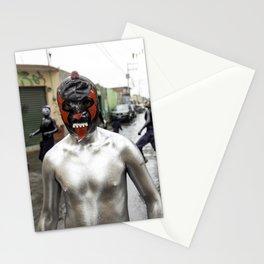 Lucha libre plateada Stationery Cards