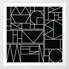 Kaku BW Art Print