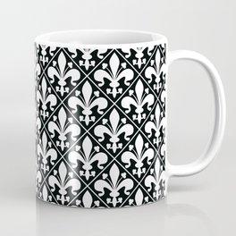 Classic Black and White Fleur de Lys Coffee Mug