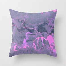 Grey and Pink Marble Throw Pillow