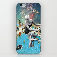 hippy iPhone & iPod Skins featuring Happy Hippy Hippo by Eugenia Loli