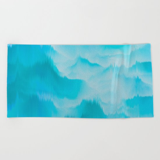 Clouds and mountains. Abstract. Beach Towel