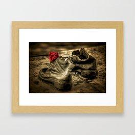 Shoes On The Danube Bank Art Framed Art Print