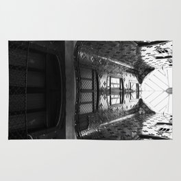 black and white architecture Rug