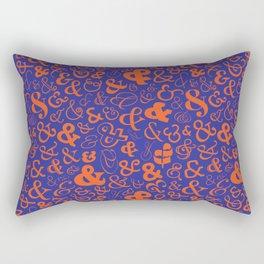 Ampersands - Blue & Orange Rectangular Pillow