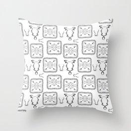 Medieval pattern Throw Pillow