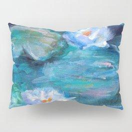 Blue Water Lilies Pillow Sham
