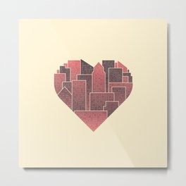 Heart of the City Metal Print
