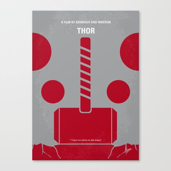 No232 My THOR minimal movie poster Canvas Print