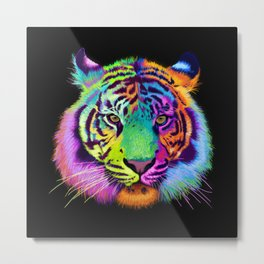 Chroma Tiger Metal Print