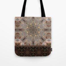 Copper Brown Terracotta Mandala and Tile Tote Bag