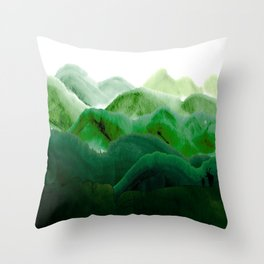 山秀谷 Throw Pillow