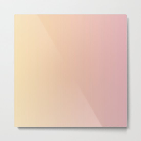 Sunset Pink Coral Gradient Metal Print