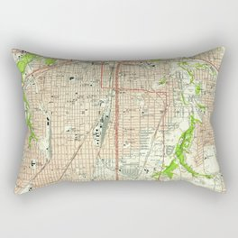 Vintage Map of Fort Worth Texas (1955) Rectangular Pillow