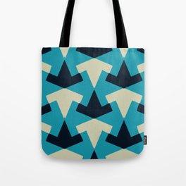 Geometric pattern summer blue invert Tote Bag