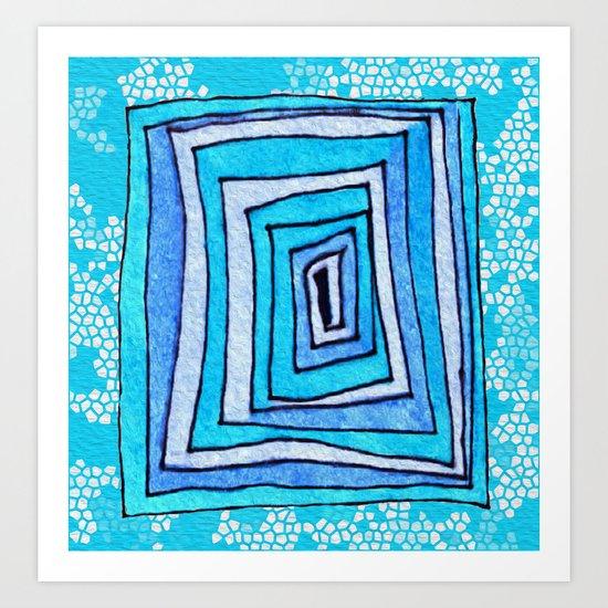 Vertigo Mosaic Art Print