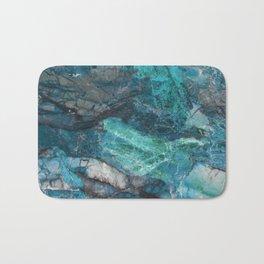 Cerulean Blue Marble Bath Mat