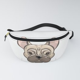 Cute french bulldog muzzle Fanny Pack