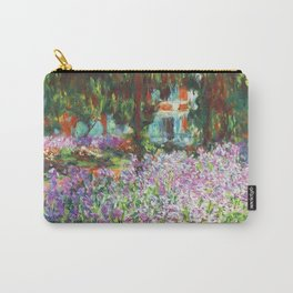 Claude Monet, The Artist's Garden at Giverny 1900 Artwork for Wall Art, Prints, Posters, Tshirts, Men, Women, Kids Carry-All Pouch