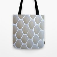 honeycomb Tote Bags featuring Honeycomb by Ian Bevington