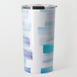 7 | 181101 Watercolour Palette Abstract Art | Lines | Stripes | Travel Mug