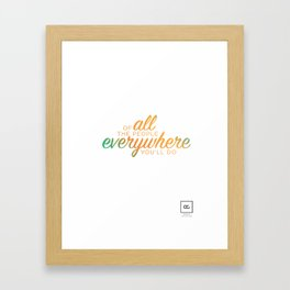 Of all the people everywhere Framed Art Print