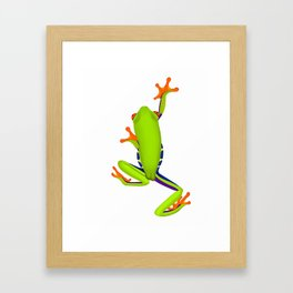 Tree Frog Climbing Framed Art Print