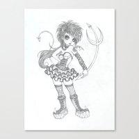 devil Canvas Prints featuring Devil by EMIRI