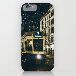 Zurich Tram iPhone Case