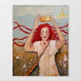 Crowning Herself Canvas Print