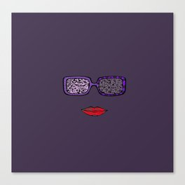 Sunglasses and Lips Summer fun Canvas Print