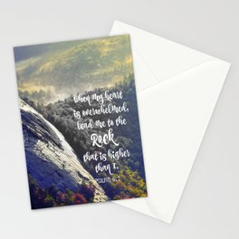 When my Heart is Overwhelmed Bible Verse Stationery Cards