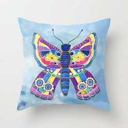 Butterfly I on a Summer Day Throw Pillow