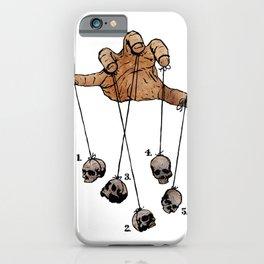 The Five Dancing Skulls Of Doom iPhone Case