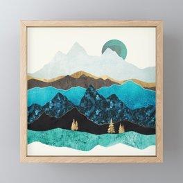 Teal Afternoon Framed Mini Art Print