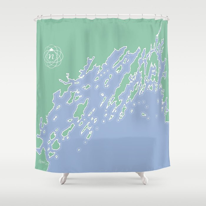 Casco Bay Maine USA Shower Curtain