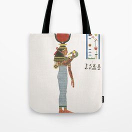 Hathor  from Pantheon Egyptien (1823-1825) by Leon Jean Joseph Dubois (1780-1846) Tote Bag
