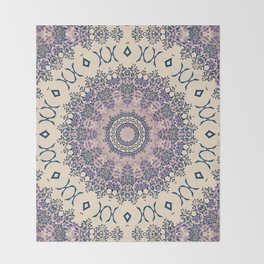 No. 20 Wisteria Arbor Way Regal Purple & Ivory Hugs and Kisses Mandala Throw Blanket