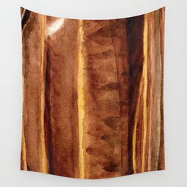 Tigers Eye Crystal Watercolor Wall Tapestry