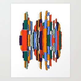 Abstract multicolored iceberg Art Print