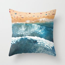 Summer Colors   Aerial Beach Throw Pillow