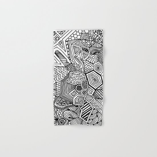 Lucky Abstract Geometric DREAM CATCHER Hand & Bath Towel