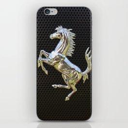 Ferrari chrome emblem  iPhone Skin