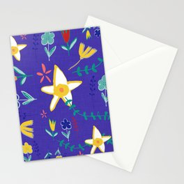 Floral The Tortoise and the Hare is one of Aesop Fables blue Stationery Cards