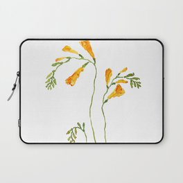 orange freesia watercolor Laptop Sleeve